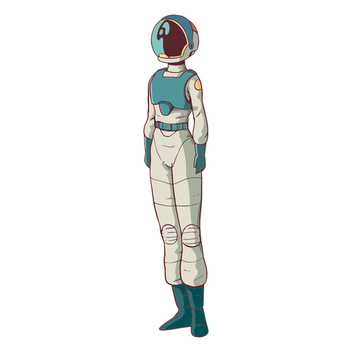 Simple standing astronaut colored Transparent PNG