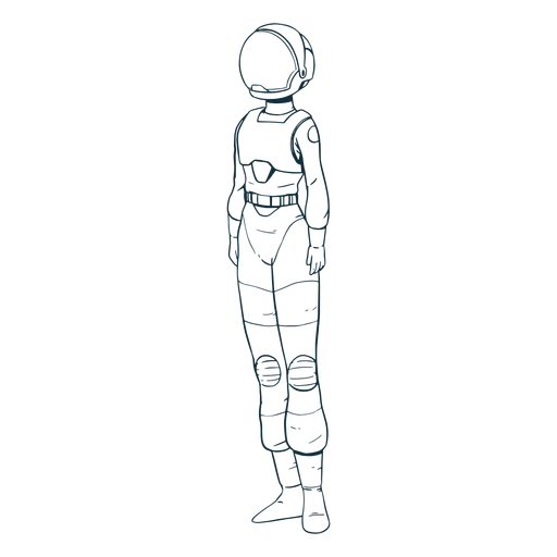 Simple standing astronaut drawn