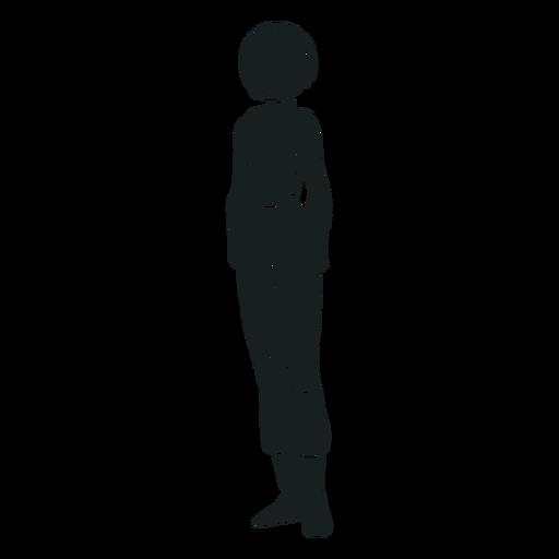 Silhueta simples de astronauta em pé