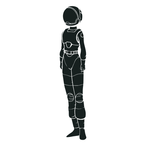 Simple standing astronaut silhouette