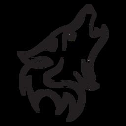 Simple wolf stroke