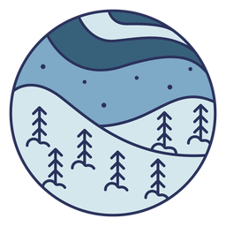 Snow landscape flat