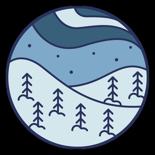 Paisaje de nieve plana Transparent PNG