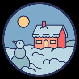 Casa de paisaje de nieve