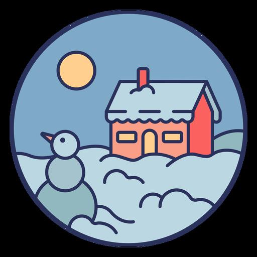 Casa de paisaje de nieve Transparent PNG