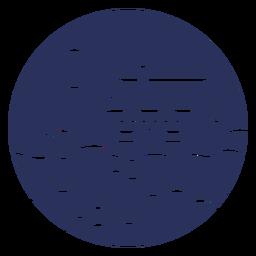 Snow landscape house silhouette
