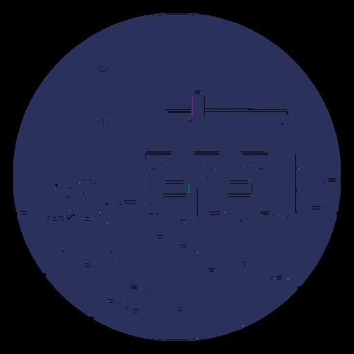 Snow landscape house silhouette Transparent PNG