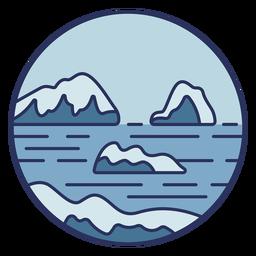 Snow landscape icebergs