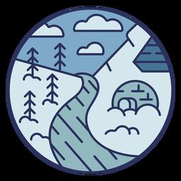 Iglú de paisaje de nieve