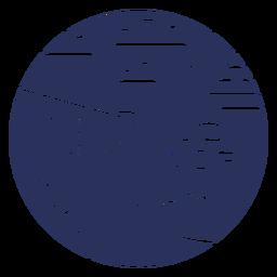 Snow landscape igloo silhouette