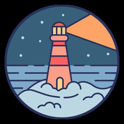 Snow landscape lighthouse