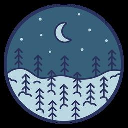 Lua de paisagem de neve