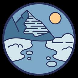 Montanha de paisagem de neve