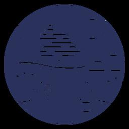 Silhueta de montanha de paisagem de neve