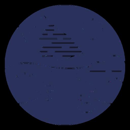 Snow landscape mountain silhouette