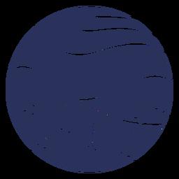 Silueta del paisaje de nieve