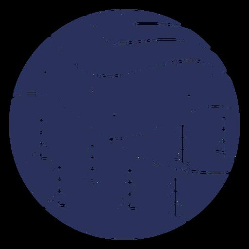 Silueta del paisaje de nieve Transparent PNG