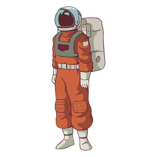 Stand astronaut colored