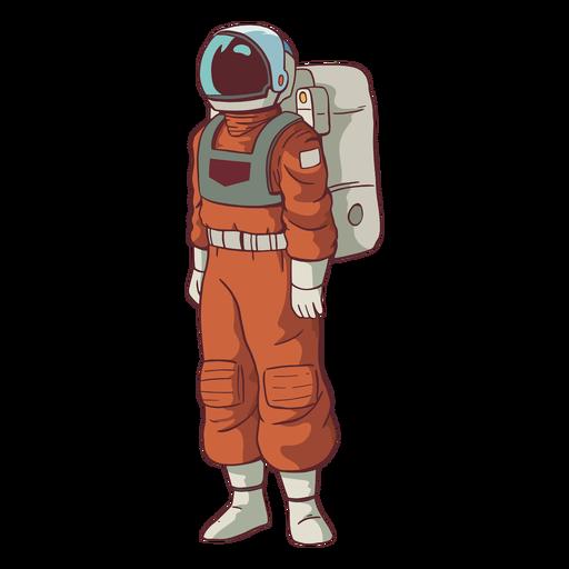 Steh Astronaut farbig