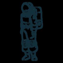 Ficar astronauta desenhado