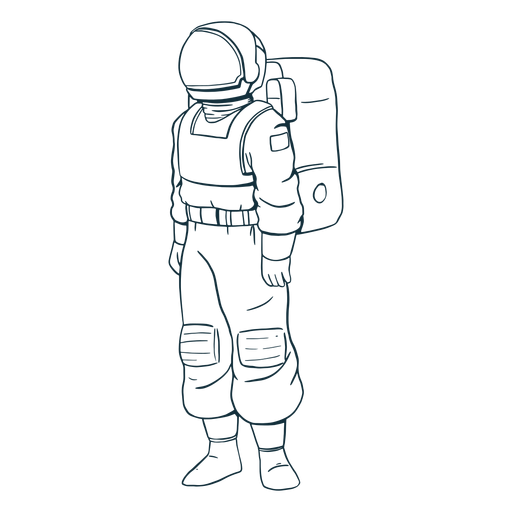 Stand astronaut drawn