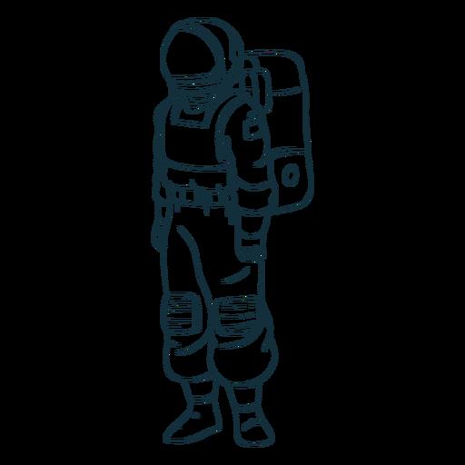 Stand astronauta dibujado