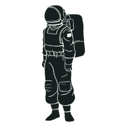 Stand astronaut silhouette