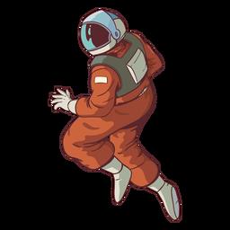 Pose de astronauta robusta colorido