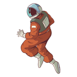 Stout astronauta pose de color