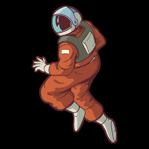 Stout astronauta pose de color Transparent PNG