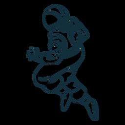 Pose de astronauta robusta desenhada