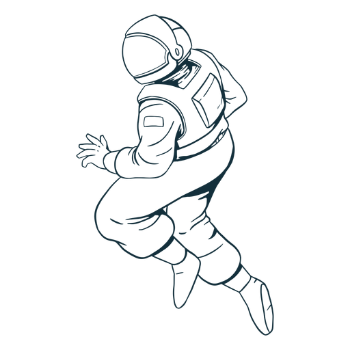 Stout astronauta pose dibujada