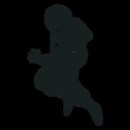 Silhueta de pose de astronauta robusta