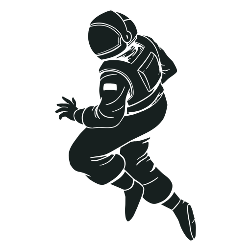 Stout astronaut pose silhouette Transparent PNG