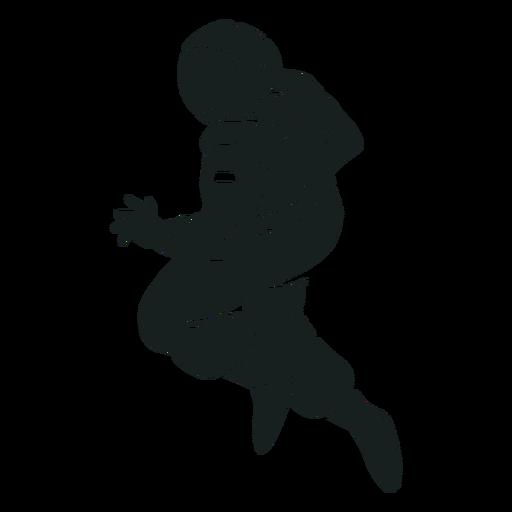 Stout astronauta pose silueta