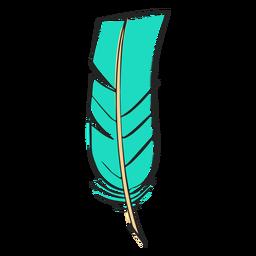 Punta recta pluma azul