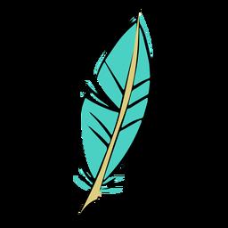 Trazo dibujo pluma azul