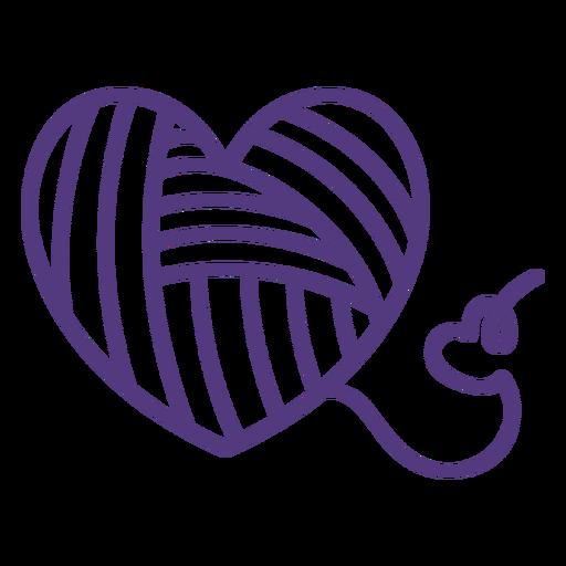 Stroke heart shaped threads wool