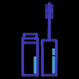 Pincel de rimel de icono de trazo