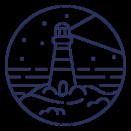 Stroke snow landscape lighthouse