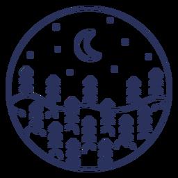 Stroke snow landscape moon
