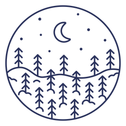 Trazo nieve paisaje luna