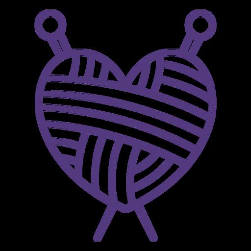 Stroke wool heart yarn