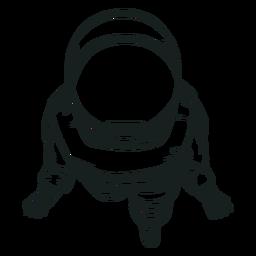 Vista superior astronauta fresco dibujado
