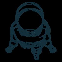 Vista superior astronauta dibujado