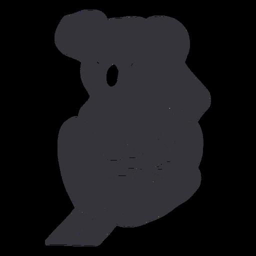 Silhueta de coala de árvore sentado