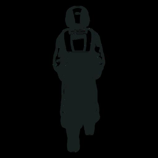 Astronauta caminando dibujado detrás