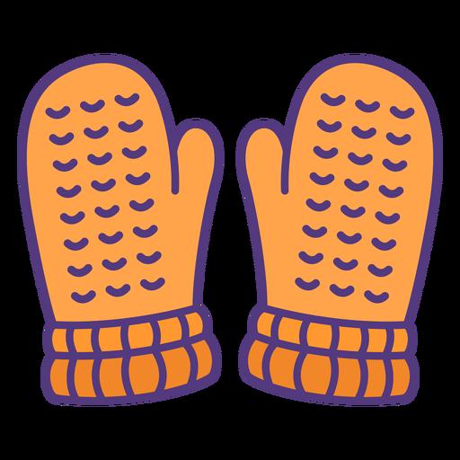 Guantes de lana de colores