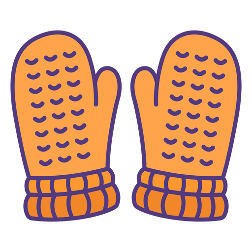 Wool gloves colored