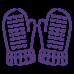 Wool gloves stroke
